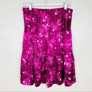 Banana Republic Silk Floral Tiered Skirt Size 2